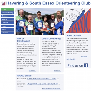 www.orienteering-havoc.co.uk, PFweb