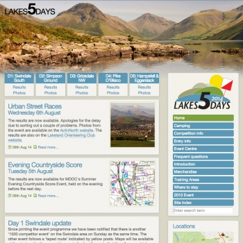 www.lakes5.org.uk, PFweb