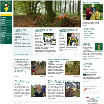www.quantockorienteers.co.uk, PFweb